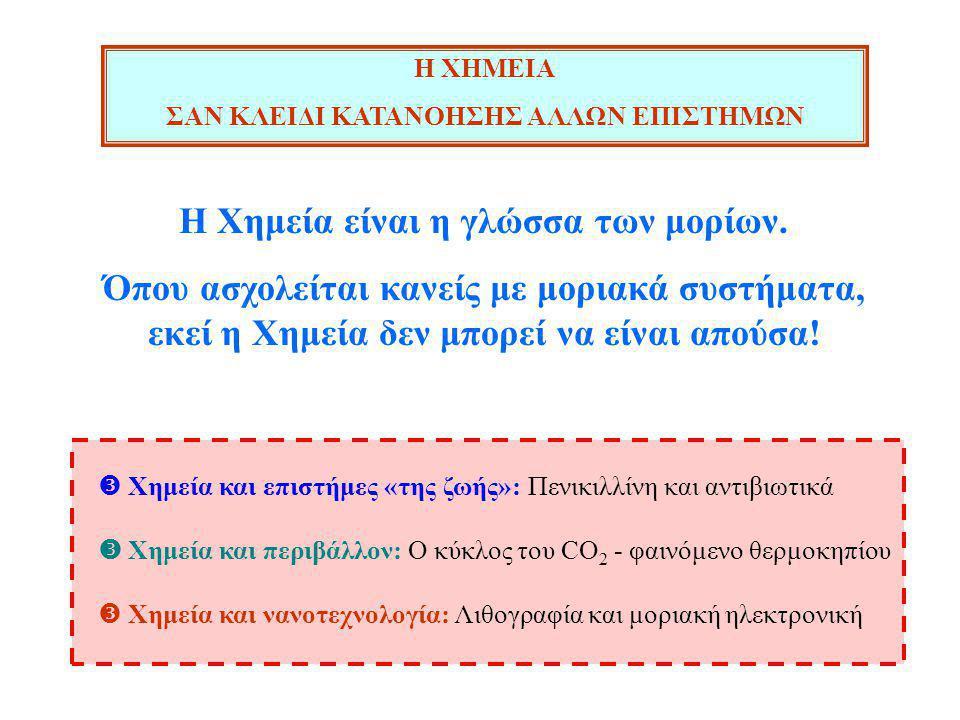 Η Χημεία είναι η γλώσσα των μορίων.