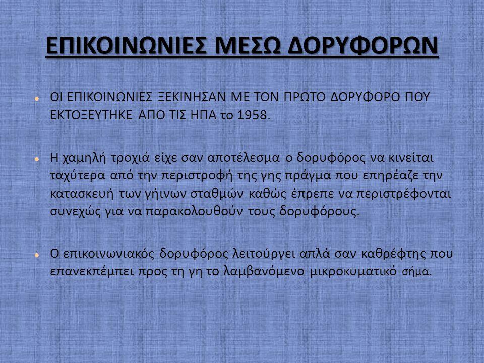 ΕΠΙΚΟΙΝΩΝΙΕΣ ΜΕΣΩ ΔΟΡΥΦΟΡΩΝ