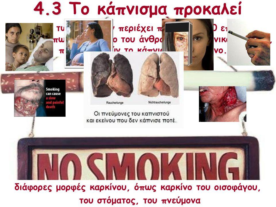4.3 Κάπνισμα 4.3 Το κάπνισμα προκαλεί