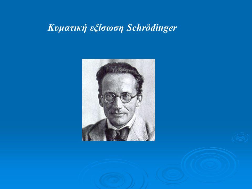 Κυματική εξίσωση Schrödinger