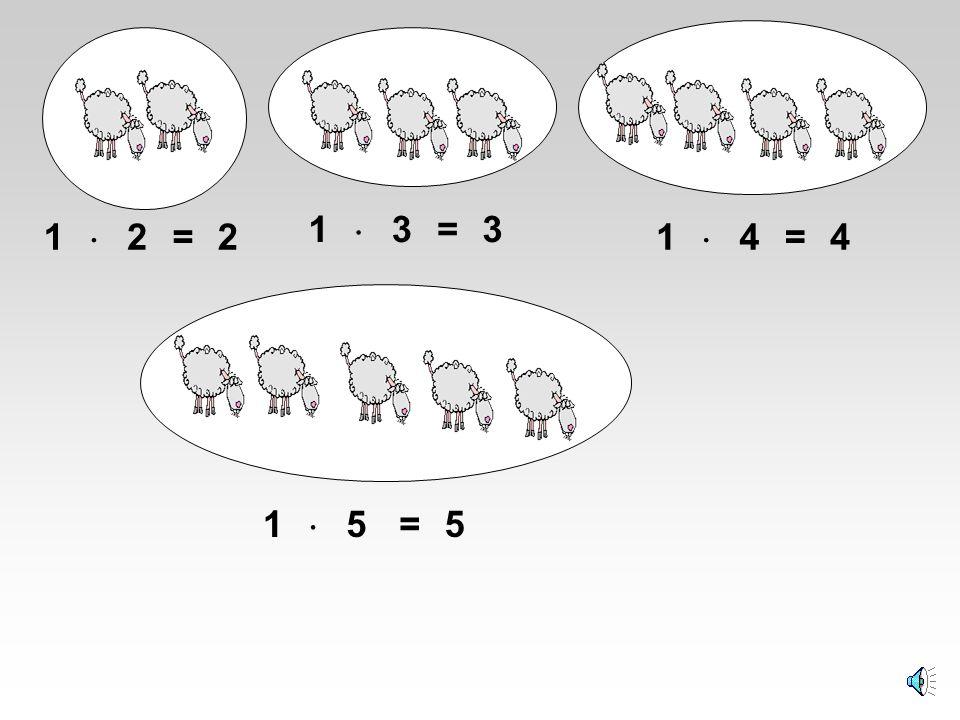 1  3 = 3 1  2 = 2 1  4 = 4 1  5 = 5