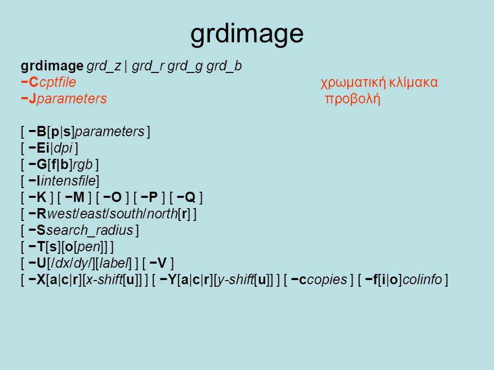 grdimage grdimage grd_z | grd_r grd_g grd_b