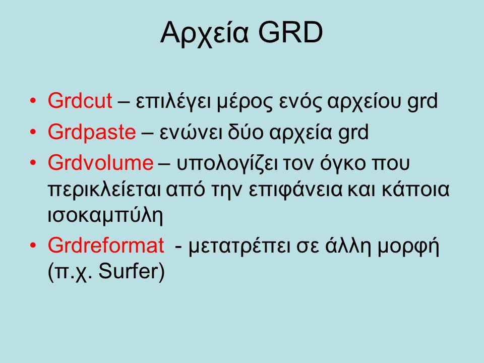 Αρχεία GRD Grdcut – επιλέγει μέρος ενός αρχείου grd