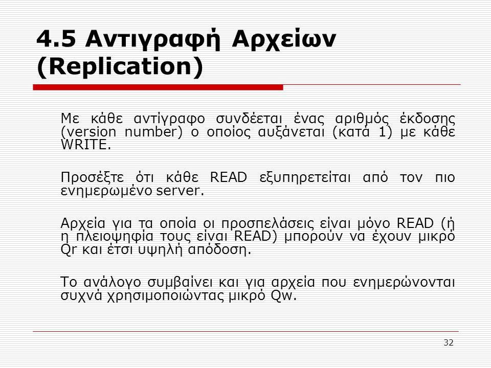 4.5 Αντιγραφή Αρχείων (Replication)
