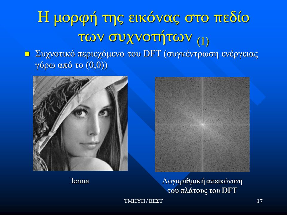 Η μορφή της εικόνας στο πεδίο των συχνοτήτων (1)