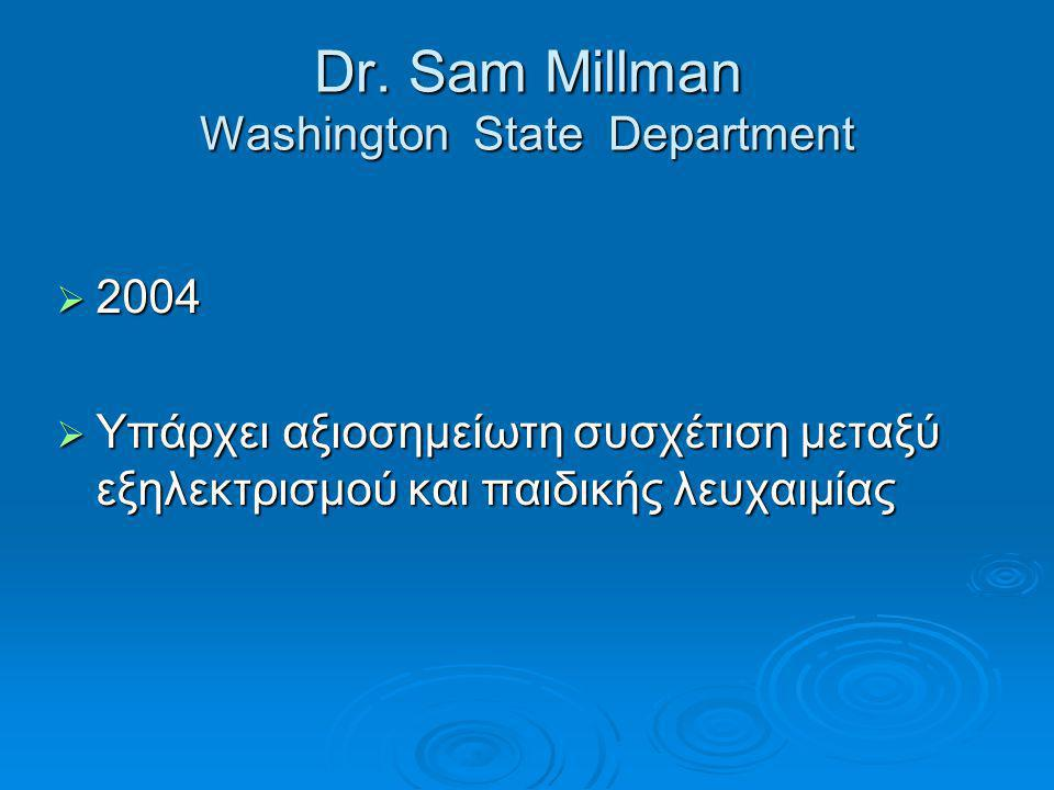 Dr. Sam Millman Washington State Department