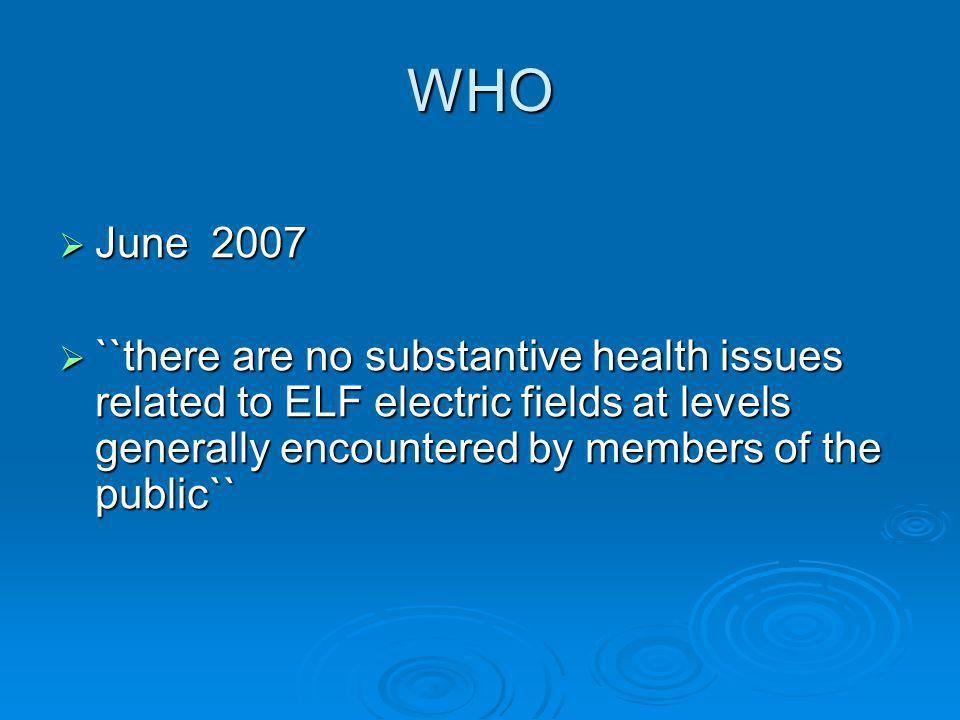 WHO June 2007.