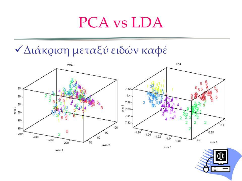 PCA vs LDA Διάκριση μεταξύ ειδών καφέ