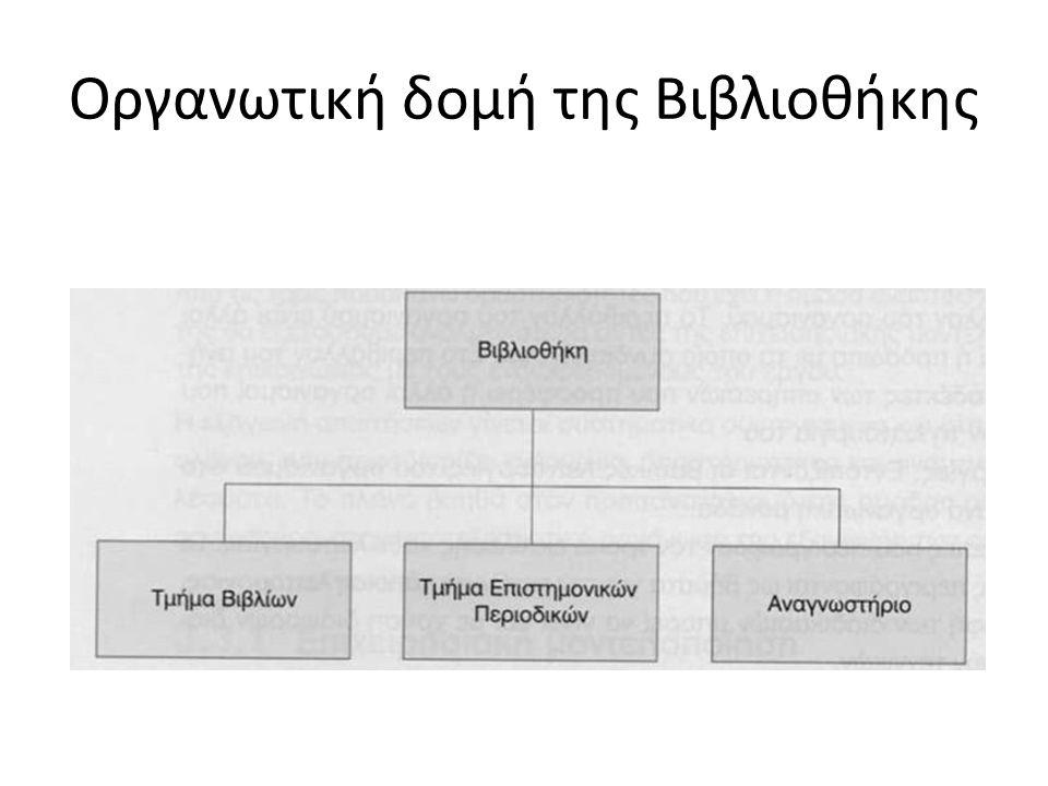 Οργανωτική δομή της Βιβλιοθήκης