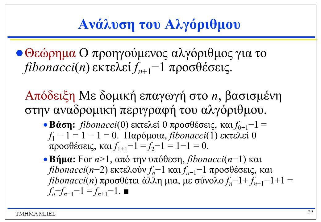 Ανάλυση του Αλγόριθμου
