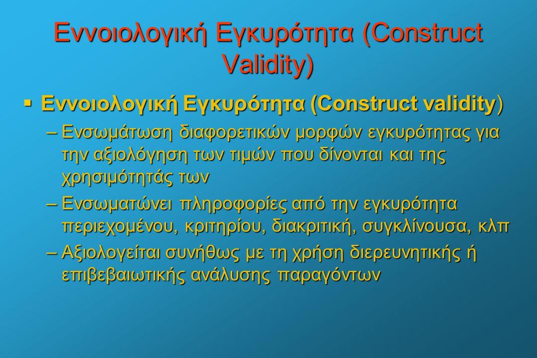 Εννοιολογική Εγκυρότητα (Construct Validity)