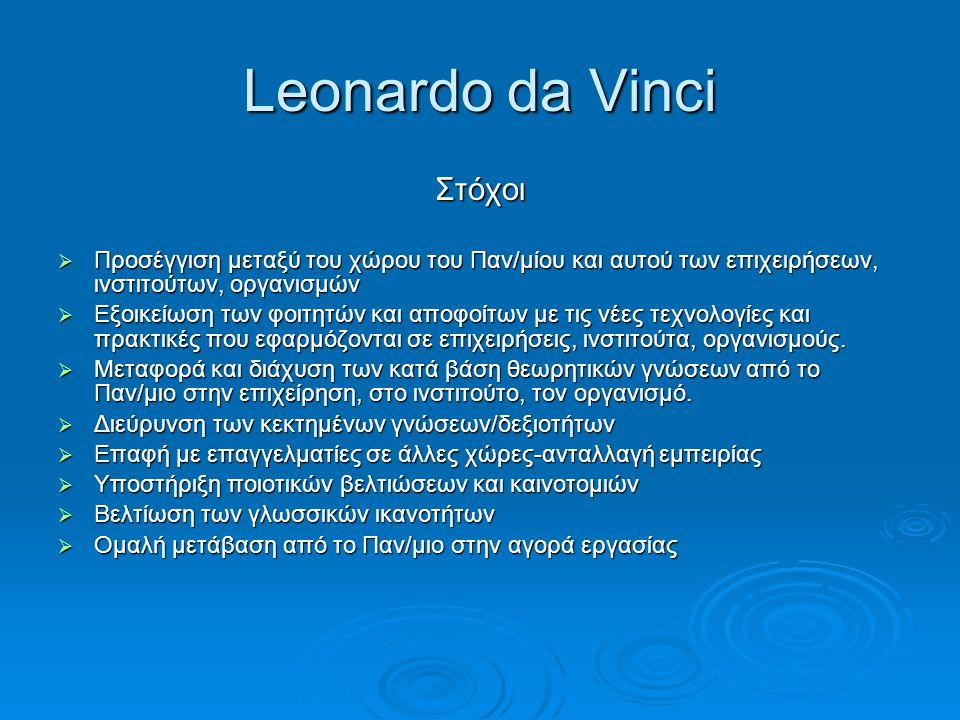 Leonardo da Vinci Στόχοι