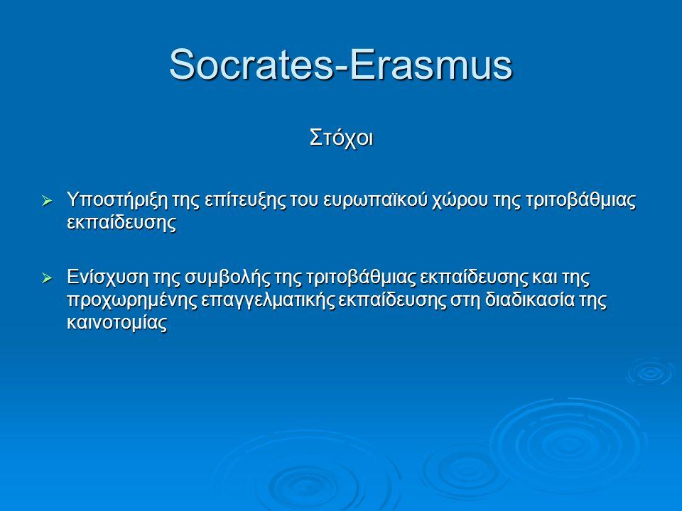 Socrates-Erasmus Στόχοι