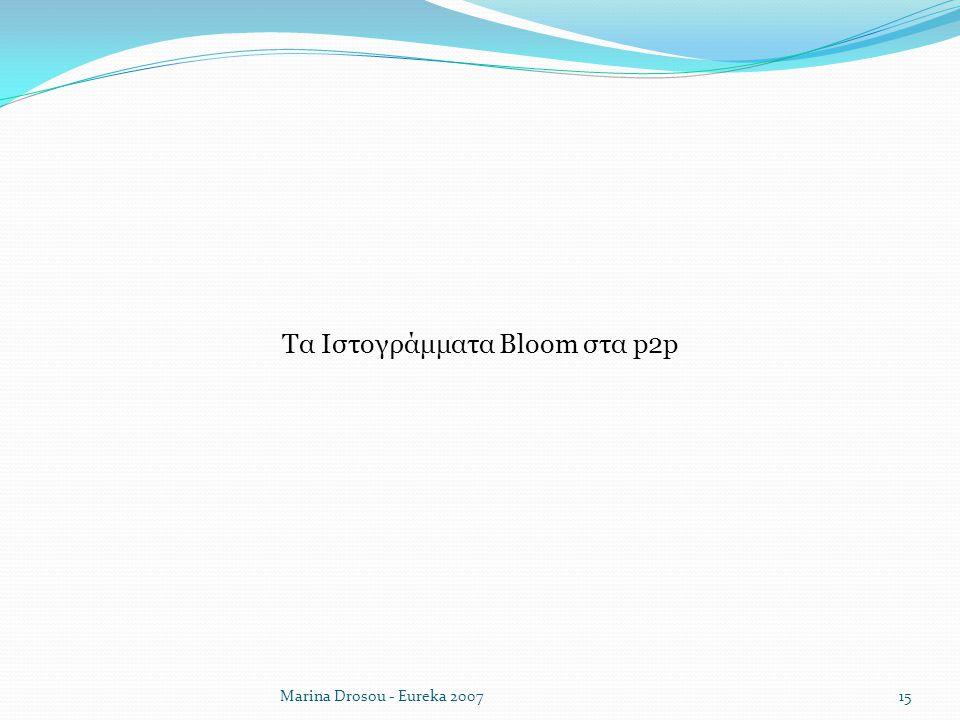 Τα Ιστογράμματα Bloom στα p2p