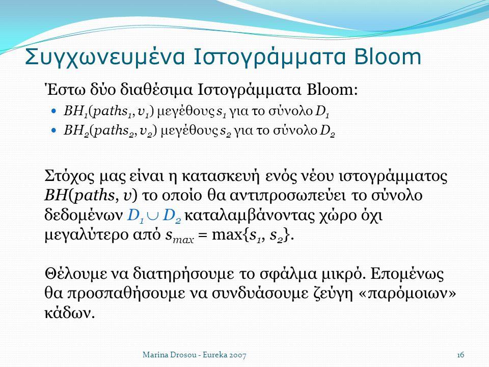 Συγχωνευμένα Ιστογράμματα Bloom