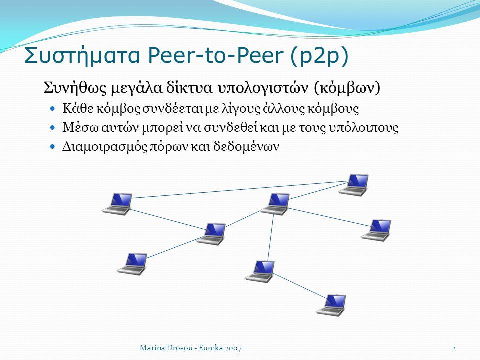 Συστήματα Peer-to-Peer (p2p)