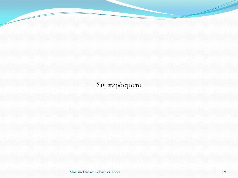 Συμπεράσματα Marina Drosou - Eureka 2007
