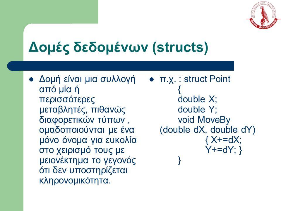Δομές δεδομένων (structs)