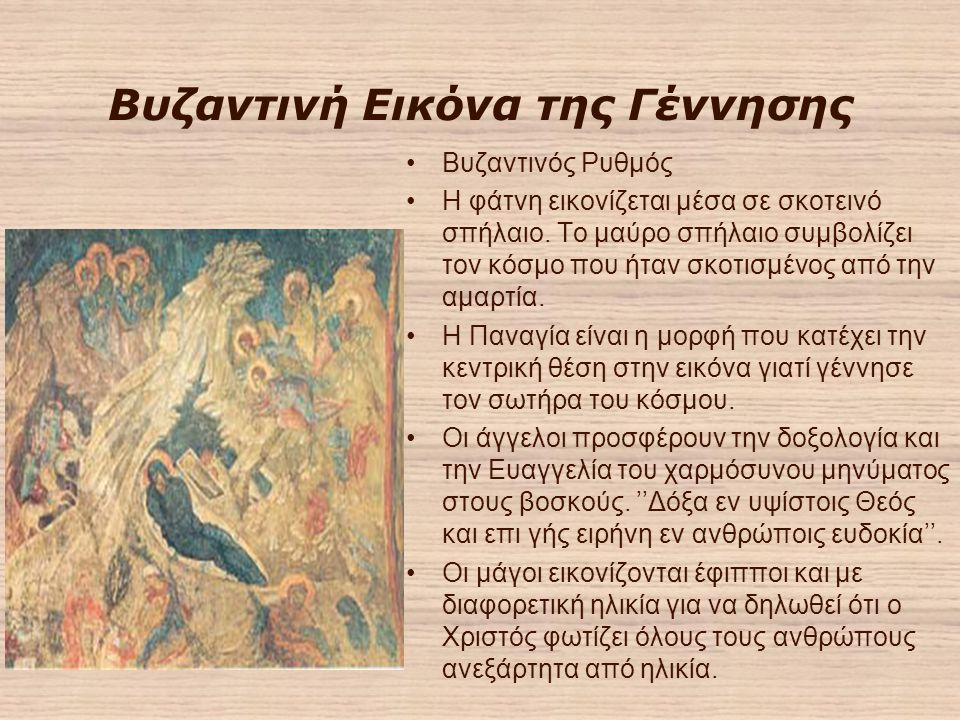 Βυζαντινή Εικόνα της Γέννησης
