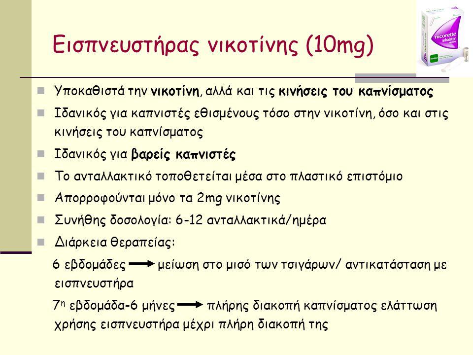 Εισπνευστήρας νικοτίνης (10mg)