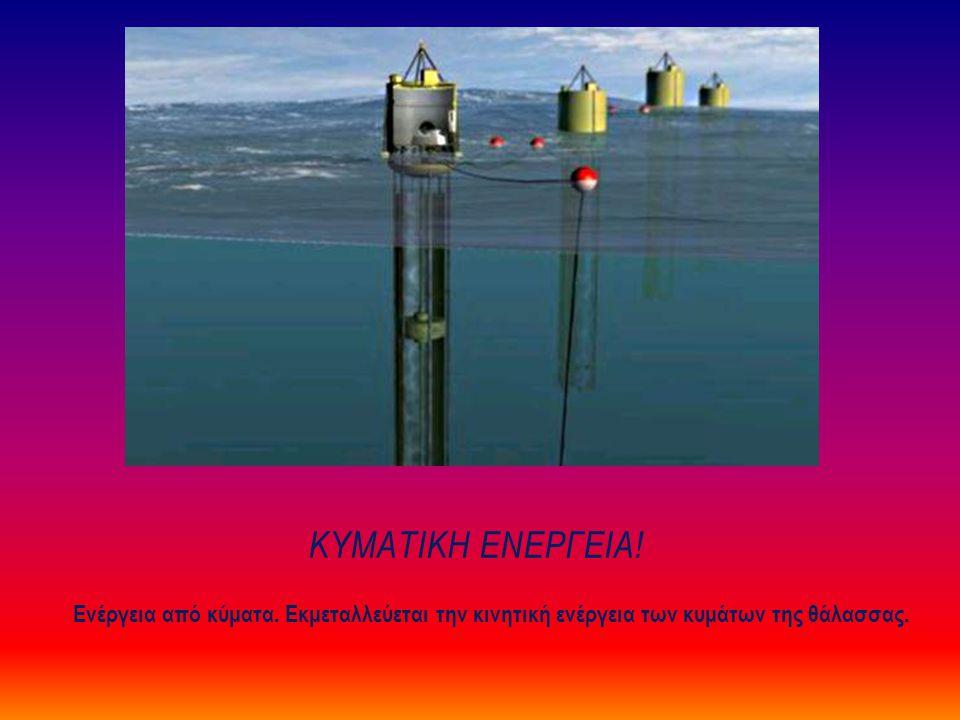 Κυματικη Ενεργεια. Ενέργεια από κύματα.