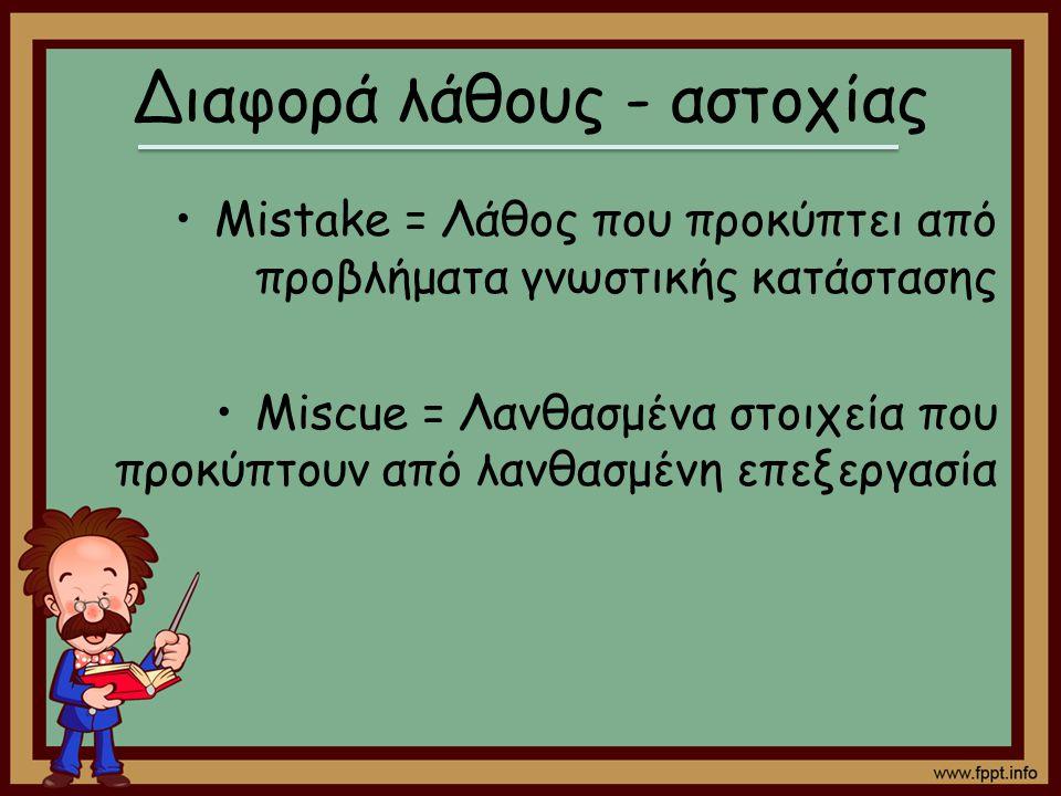 Διαφορά λάθους - αστοχίας
