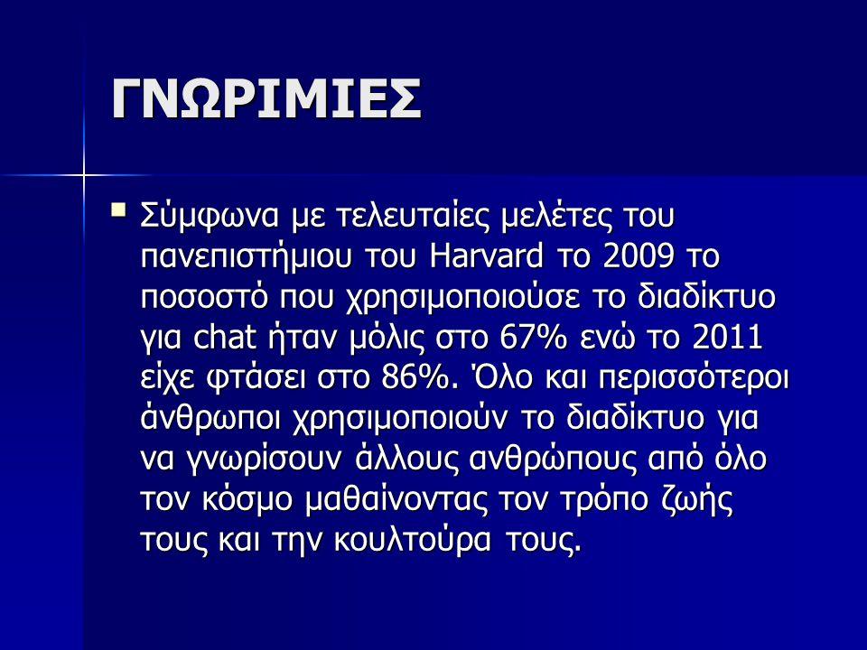 ΓΝΩΡΙΜΙΕΣ