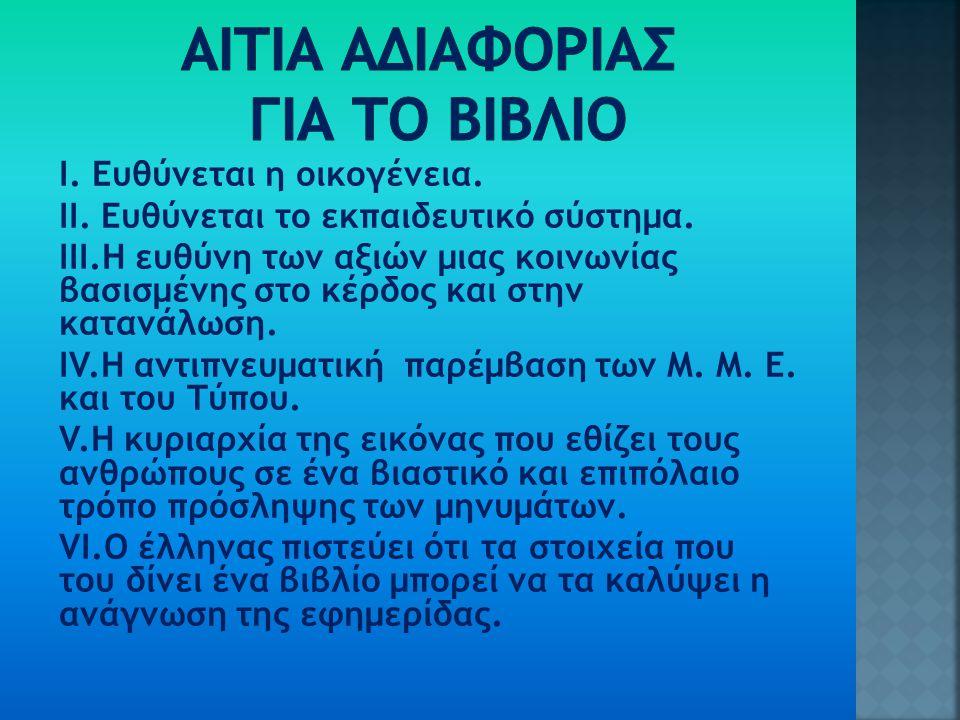 ΑΙΤΙΑ ΑΔΙΑΦΟΡΙΑΣ ΓΙΑ ΤΟ ΒΙΒΛΙΟ