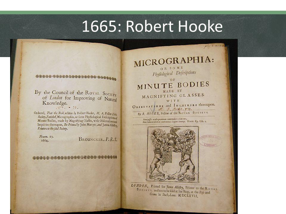 1665: Robert Hooke