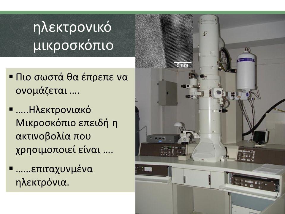 ηλεκτρονικό μικροσκόπιο