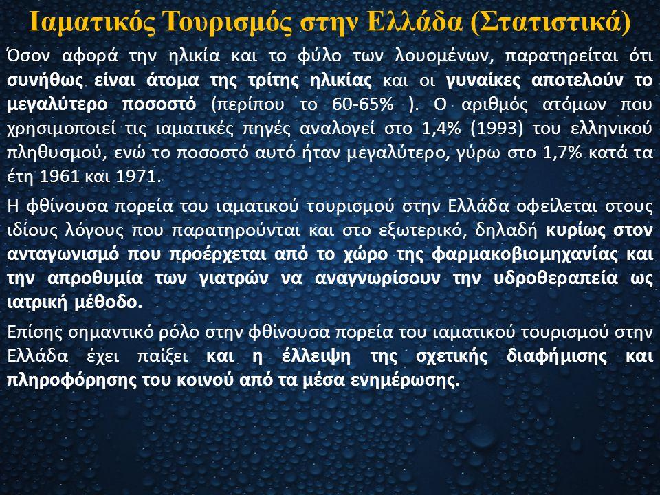 Ιαματικός Τουρισμός στην Ελλάδα (Στατιστικά)
