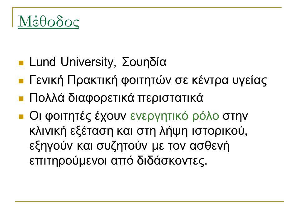 Μέθοδος Lund University, Σουηδία