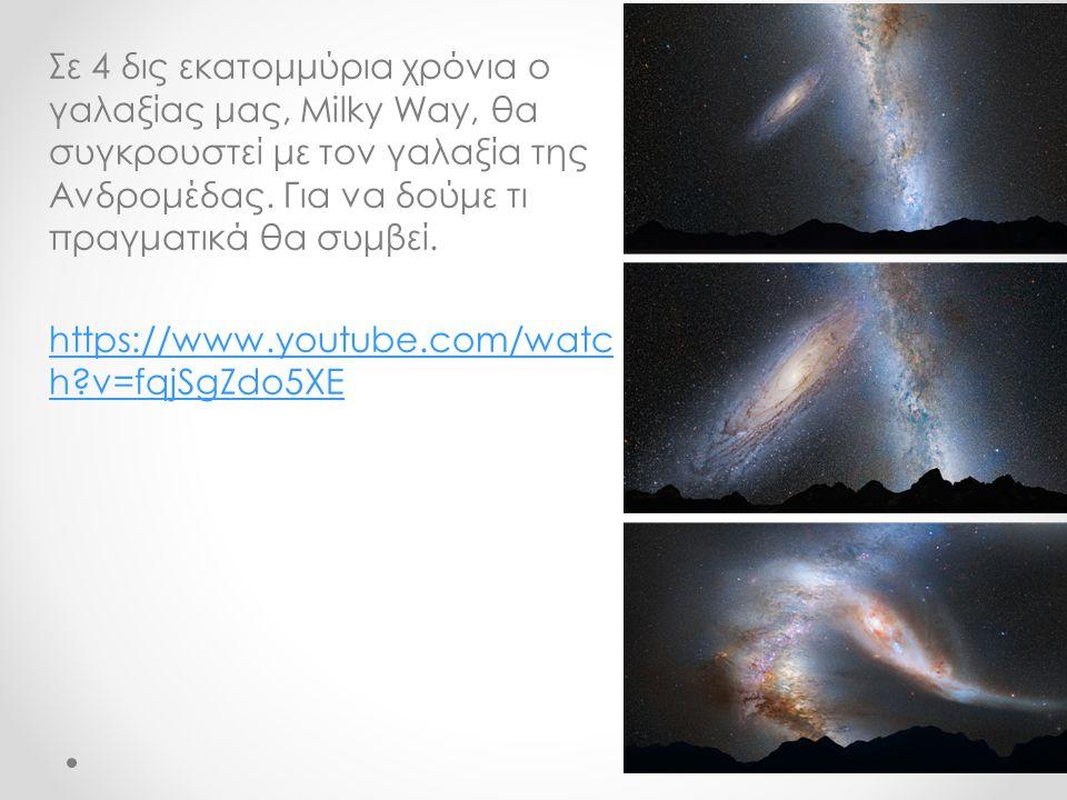 Σε 4 δις εκατομμύρια χρόνια ο γαλαξίας μας, Milky Way, θα συγκρουστεί με τον γαλαξία της Ανδρομέδας.