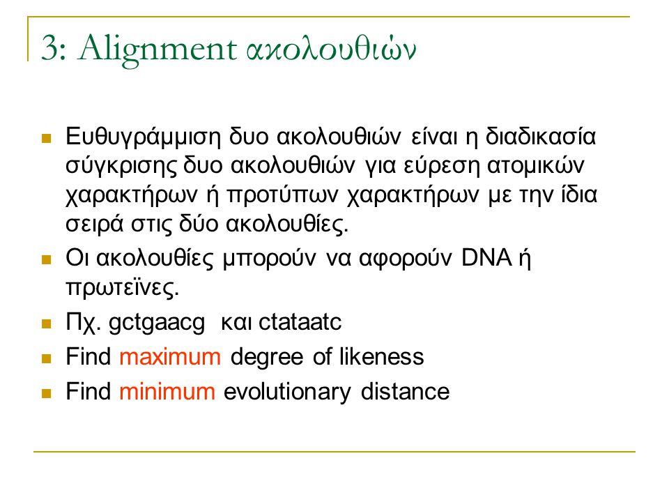 3: Alignment ακολουθιών