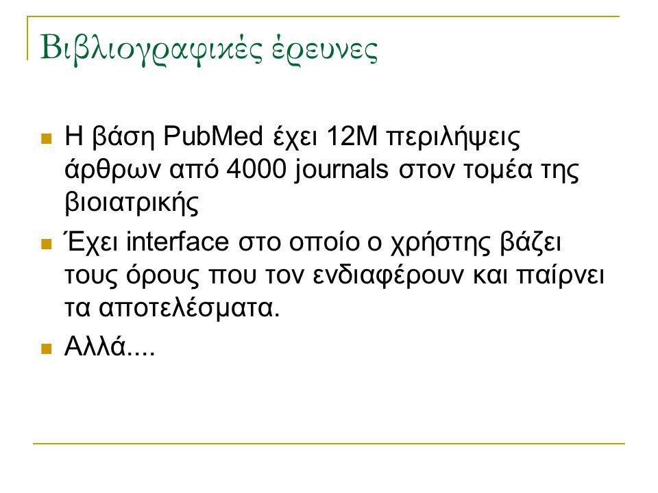 Βιβλιογραφικές έρευνες