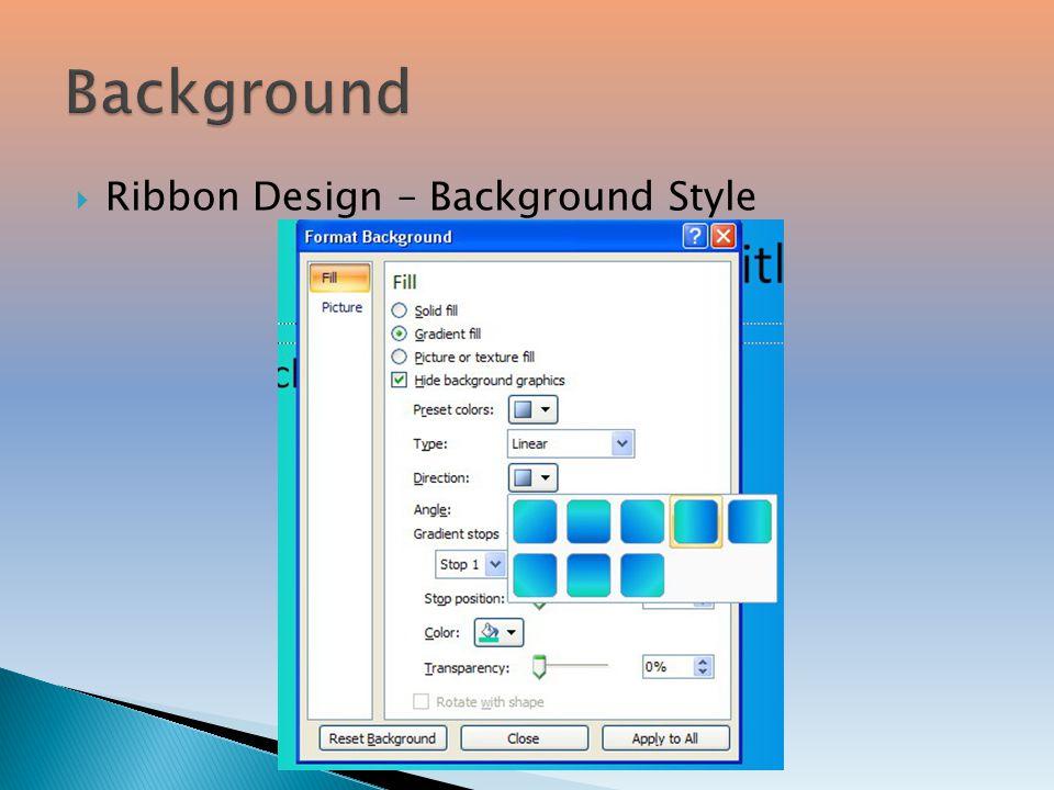 Background Ribbon Design – Background Style