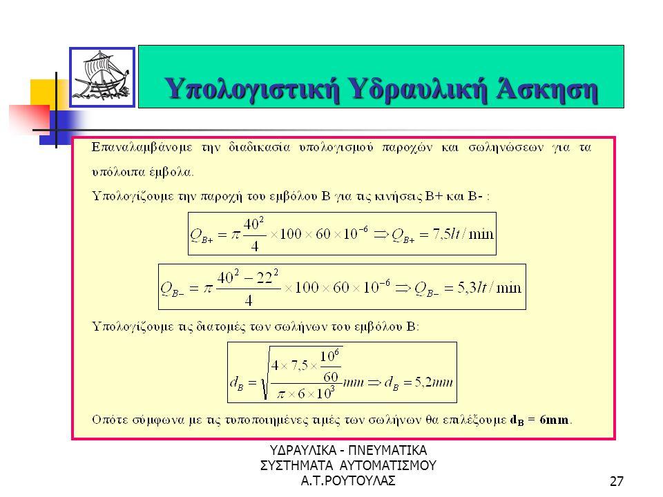 Υπολογιστική Υδραυλική Άσκηση