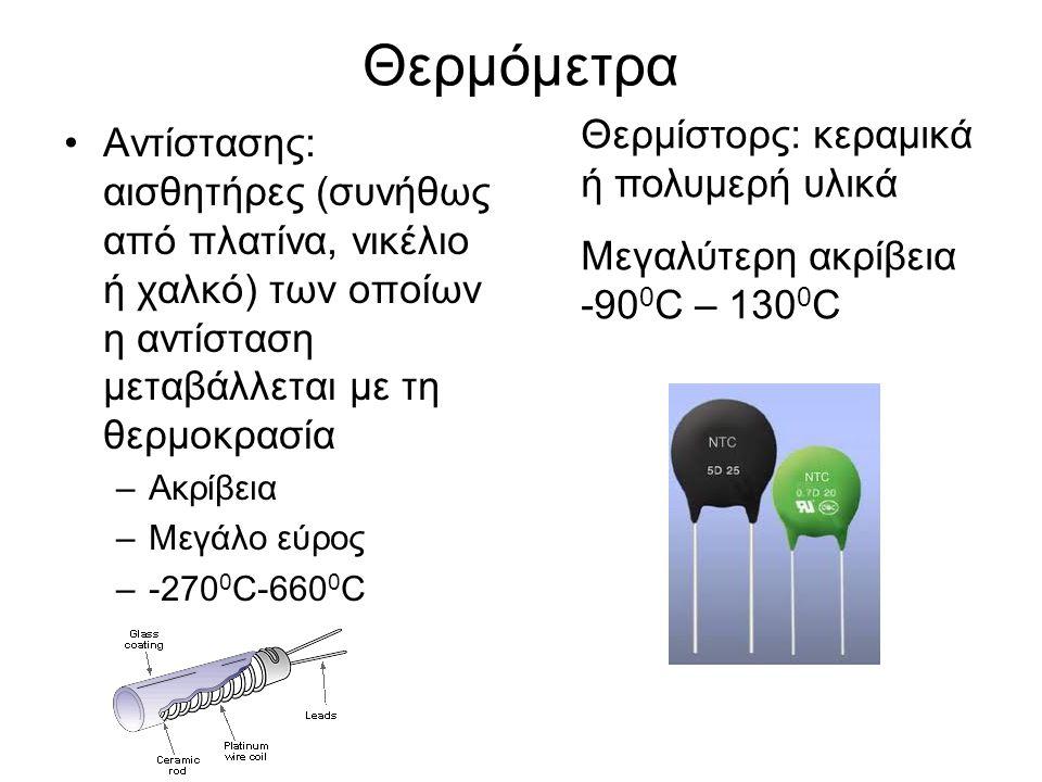 Θερμόμετρα Θερμίστορς: κεραμικά ή πολυμερή υλικά