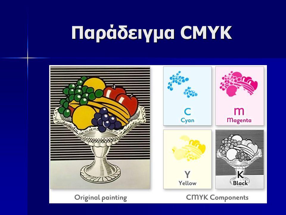 Παράδειγμα CMYK