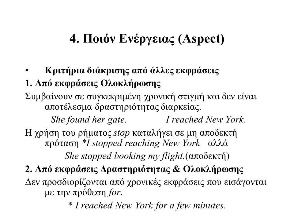 4. Ποιόν Ενέργειας (Aspect)