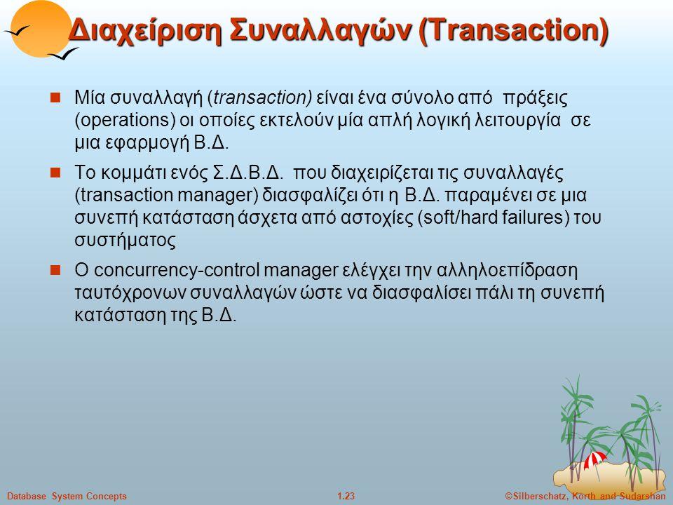 Διαχείριση Συναλλαγών (Transaction)