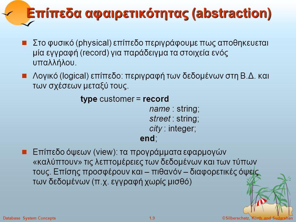 Επίπεδα αφαιρετικότητας (abstraction)