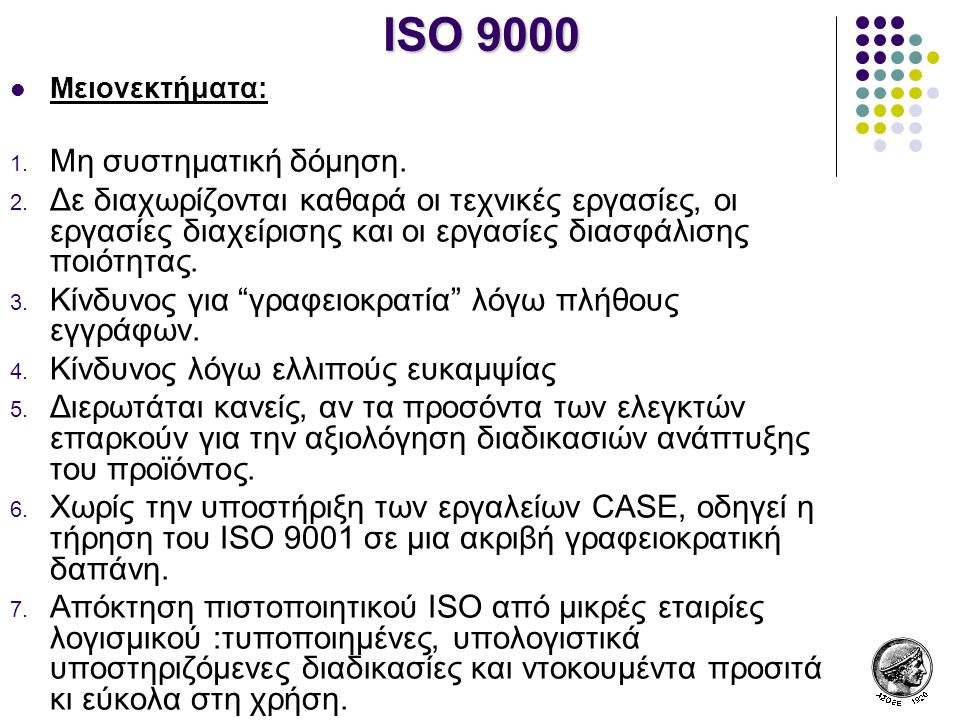 ISO 9000 Μη συστηματική δόμηση.