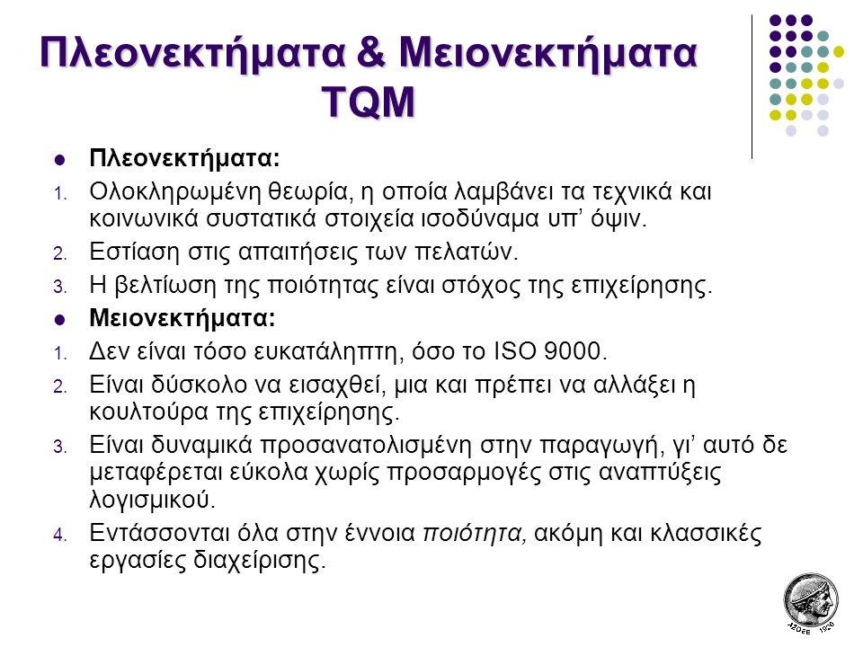 Πλεονεκτήματα & Μειονεκτήματα TQM
