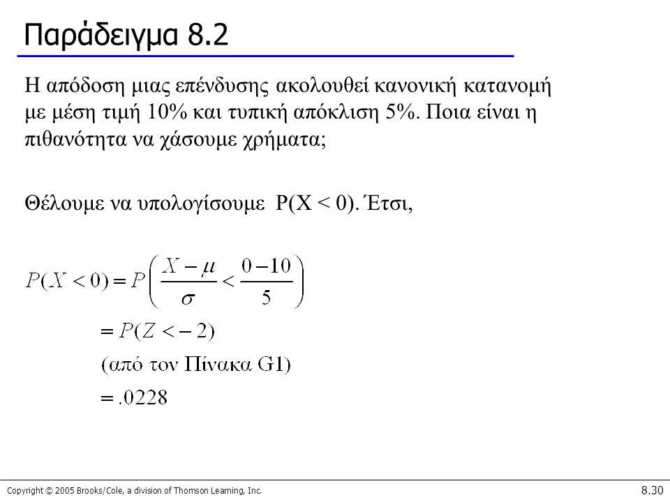 Παράδειγμα 8.2