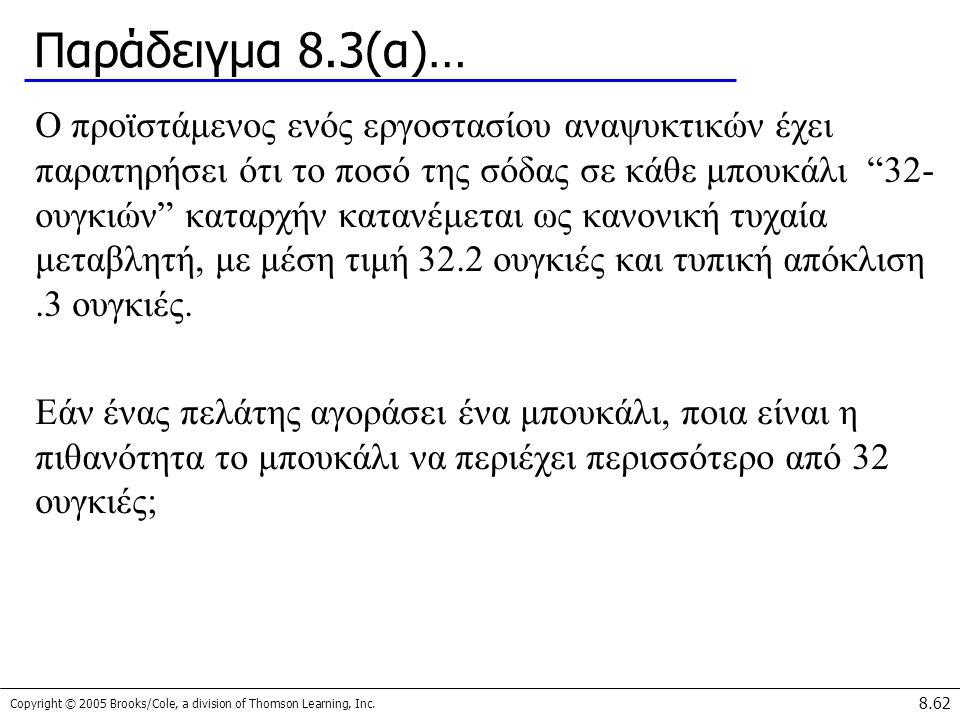 Παράδειγμα 8.3(α)…
