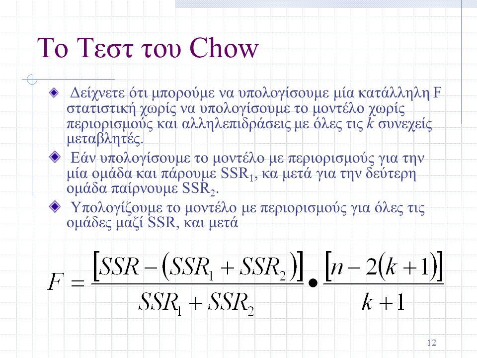 Το Τεστ του Chow