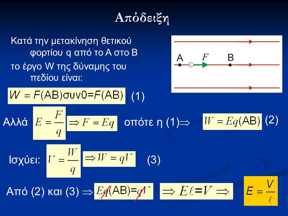 Απόδειξη (1) (2) Αλλά οπότε η (1) Ισχύει: (3) Από (2) και (3) 