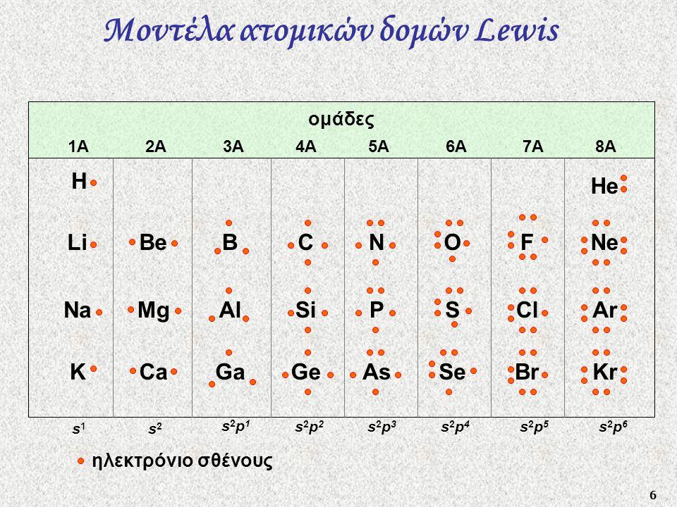 Μοντέλα ατομικών δομών Lewis