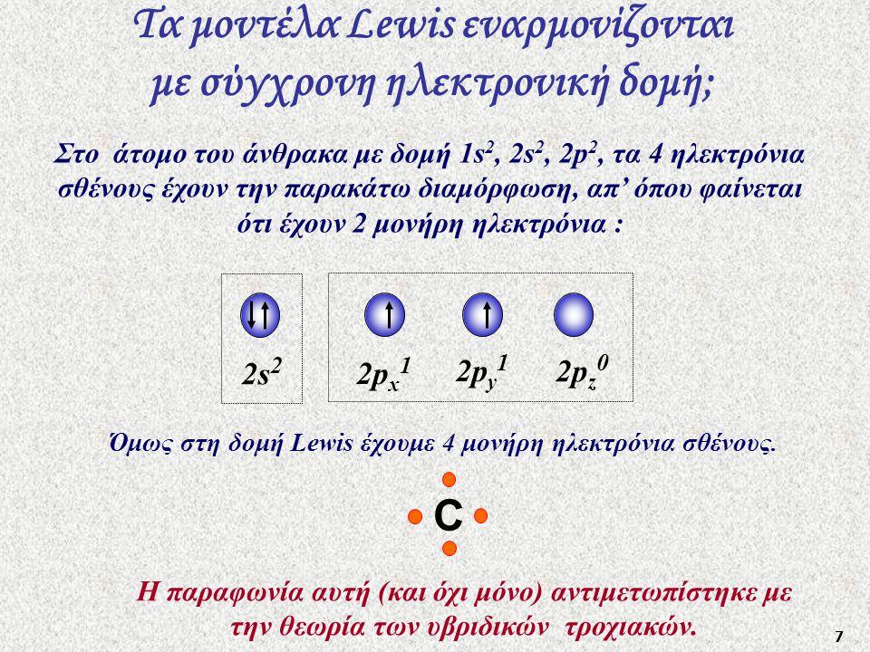 Τα μοντέλα Lewis εναρμονίζονται με σύγχρονη ηλεκτρονική δομή;
